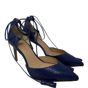 Banana Republic Textured Snakeskin Leather Heels 9